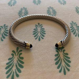 Cable Bracelet - Black Onyx 14K Gold, 5mm